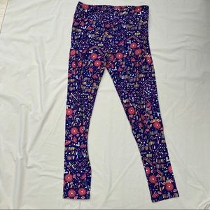 Floral and abstract TC Lularoe new leggings